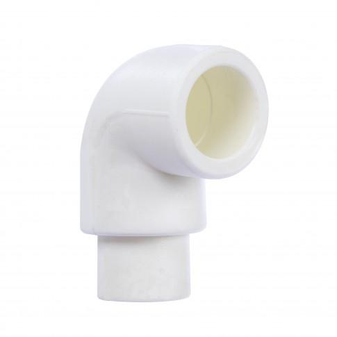 Cot PPR, redus, 25 x 25 mm, alb, 90 grade