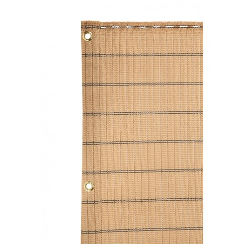 Plasa protectie vizuala Havana, polietilena, bej, 1 x 5 m
