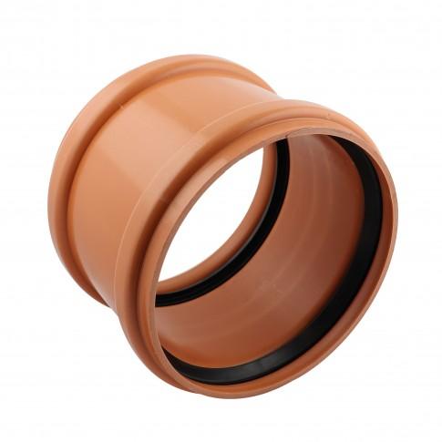 Mufa PVC cu inel, D 125 mm