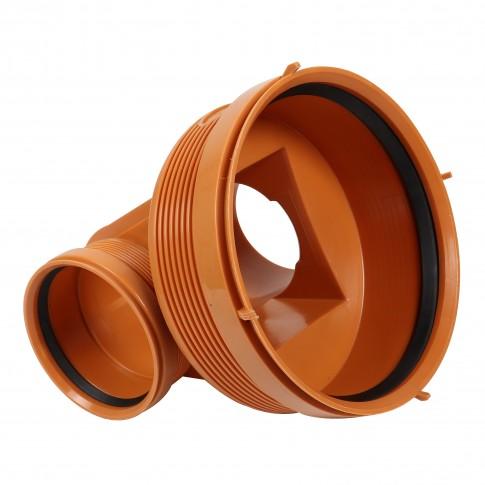 Baza camin canalizare, PVC, D 315 mm, cu 1 intrare + 1 iesire D 200 mm