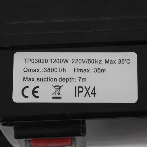 Pompa apa GP1200 (TP03020), 1.2 kW, Q max. 3.8 mc/h, H max. 35 m, 220 V