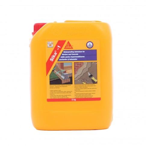 Aditiv de impermeabilizare pentru betoane si mortare, Sika 5 kg
