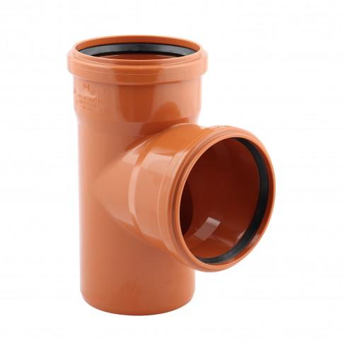 Ramificatie PVC cu inel, D 125 x 125 mm, 87 grade