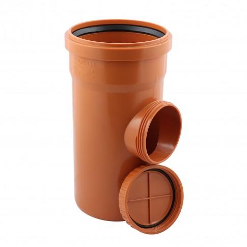 Piesa curatire PVC cu inel, D 125 mm