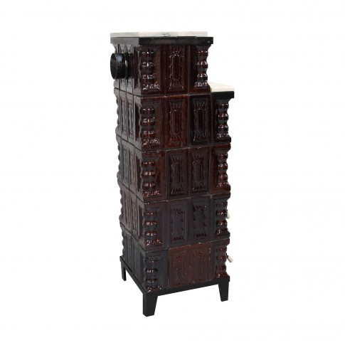Soba teracota + marmura, pe lemne, Aba, 8 kW, 1320 x 465 x 465 mm