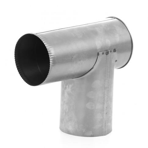 Cot evacuare fum tip T Aba, tabla decapata, 120 x 1000 mm