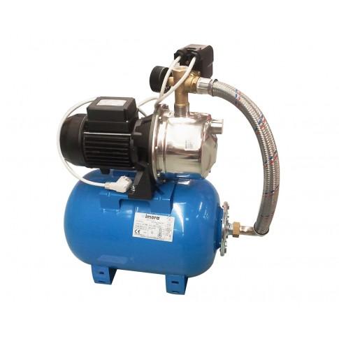 Hidrofor Saer M99, cu pompa autoamorsanta din inox + vas 50 L + presostat + manometru + furtun flexibil + racord 5 cai, 750 W