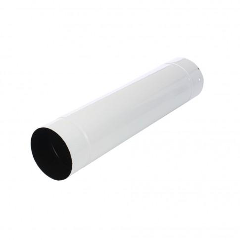 Burlan evacuare fum Caldi, tabla emailata, FI, 120 x 500 mm, alb