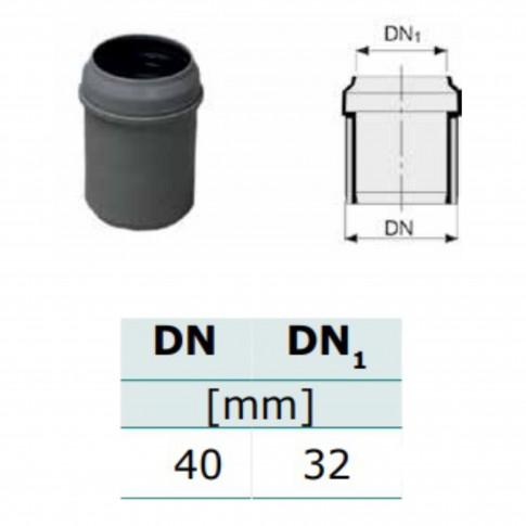 Conector redus PP, D 40 x 32 mm
