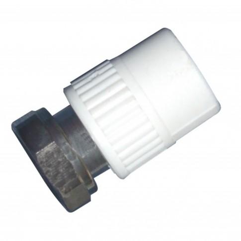 "Racord semiolandez PPR, FI, 25 mm x 3/4"", alb"