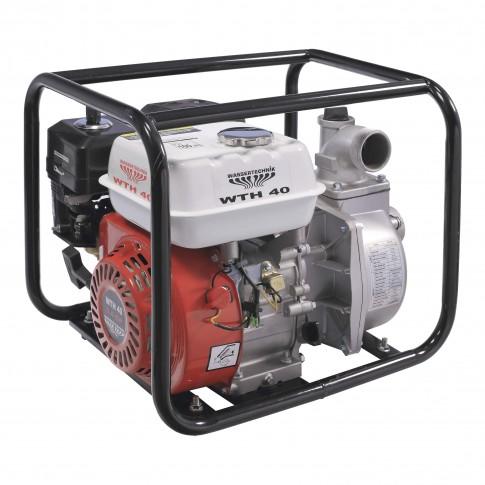 Motopompa de apa semiincarcata, pe benzina, Wassertechnik WTH40, 4 kW, 5.5 CP