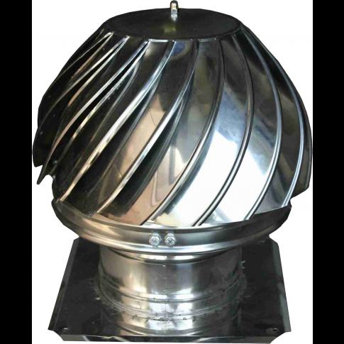 Palarie (terminal rotativ) IX + talpa, inox, D 250 mm