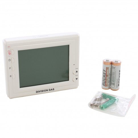 Termostat de ambient pentru centrala, cu fir, Division Gas DG908 WHB-3, programabil, 2 x AA, 230 V