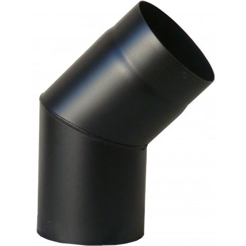Cot 45 grade pentru cazan, din otel, D180 mm, negru