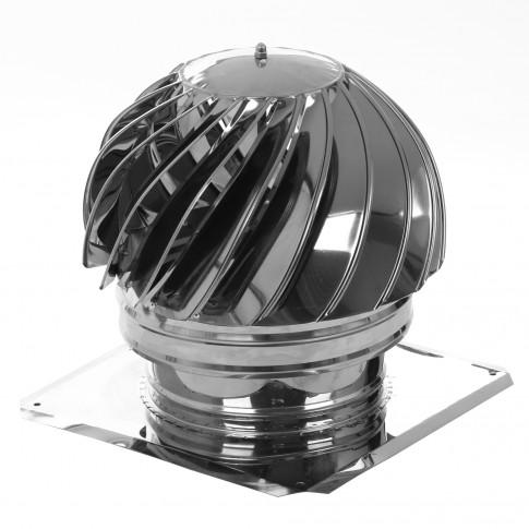 Palarie (terminal rotativ) IX + talpa, inox, D 150 mm