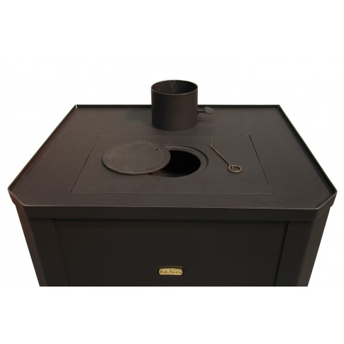 Semineu pe lemne, brichete, carbune Prity WD W24, 24 kW, boiler incorporat