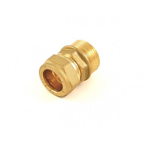 "Racord compresie cu inel, alama, FE, 18 mm x 1/2"""