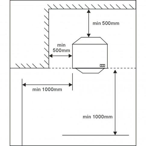 Soba mobila, pe gaz GPL, Samus RS421, 4.2 kW, 720 x 420 x 360 mm