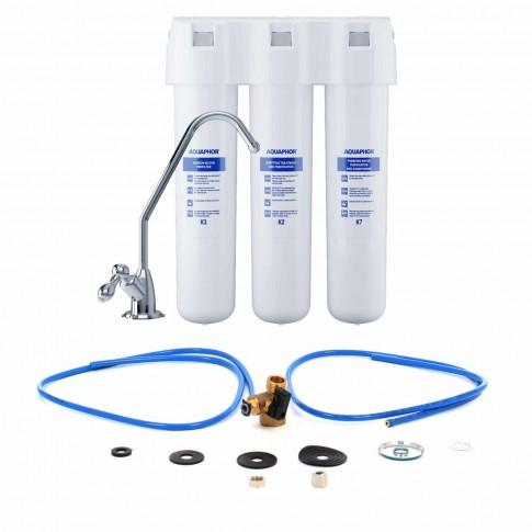 Filtru pentru apa potabila, montare sub chiuveta, Aquaphor Crystal