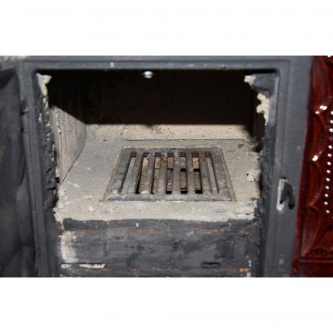 Soba teracota, pe lemne, Aba, tip cizma, varianta stanga, cu plita si cuptor, 10 kW, 950 x 900 x 550 mm