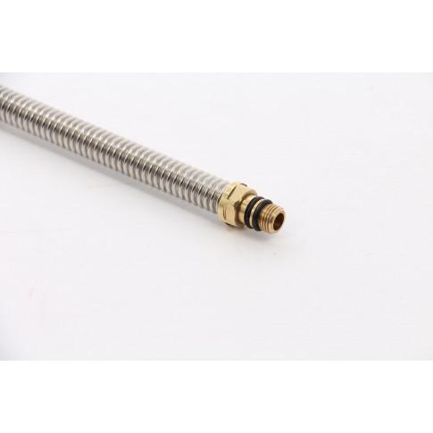 """Racord flexibil monocomanda, otel inoxidabil, 1/2"""" - 1/4 """", L 800 mm"""