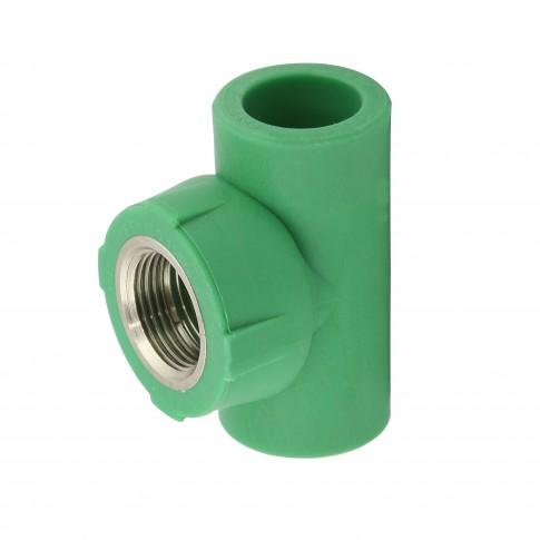 """Teu PPR, D, FI, 20 mm x 1/2"""", verde"""