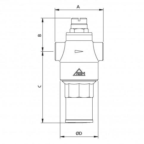 "Reductor presiune apa RMB 870470 , cu piston, 1/2"", presiune maxima 25 bar"