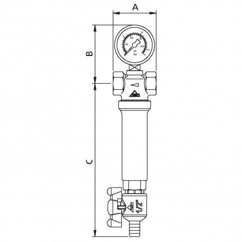 "Filtru instalatii autocuratant RBM, 1260410, 1/2"""