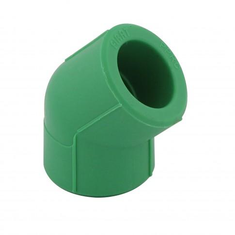Cot PPR, 20 x 20 mm, verde, 45 grade