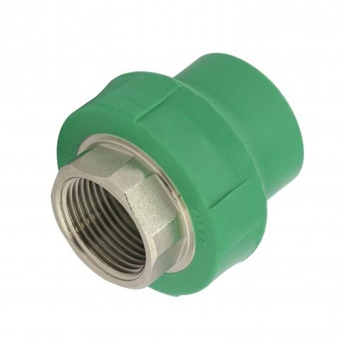 "Racord PPR, FI, 32  mm x 1"", verde"