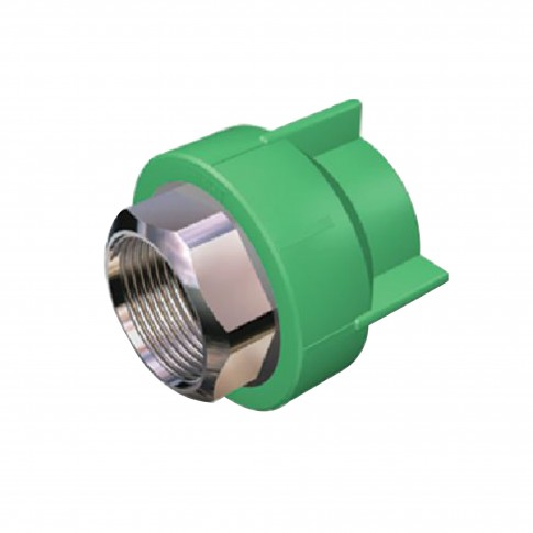 "Racord PPR, FI, 40 mm x 1 1/4"", verde"