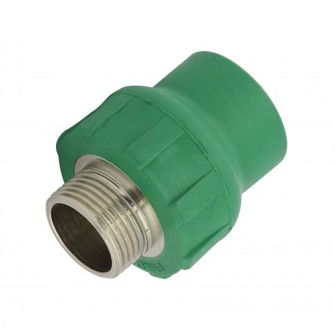 "Racord PPR, FE, 25 mm x 3/4"", verde"