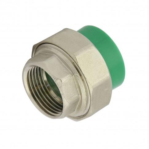 "Racord olandez PPR, FI, 32 mm x 1"", verde"