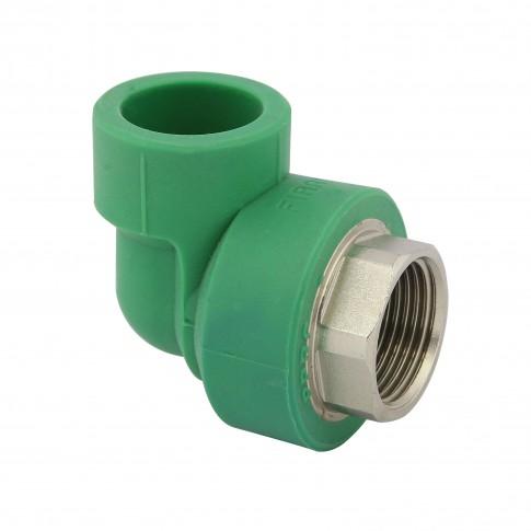 """Cot PPR, FI, 40 mm x 1 1/4"""", verde, 90 grade"""