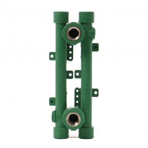 """Element PPR pentru baterie sanitara, 20 mm x 1/2"""", verde (set 2 bucati)"""