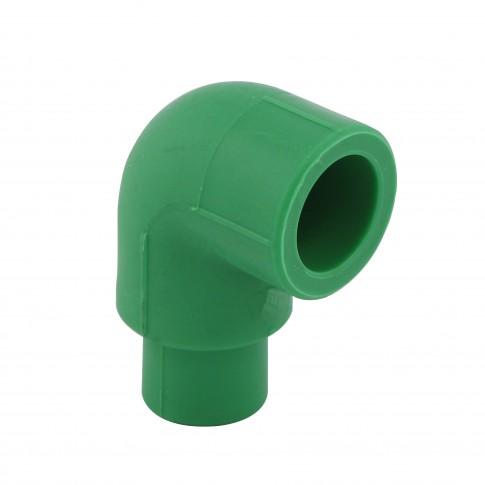 Cot PPR, redus, 25 x 25 mm, verde, 90 grade
