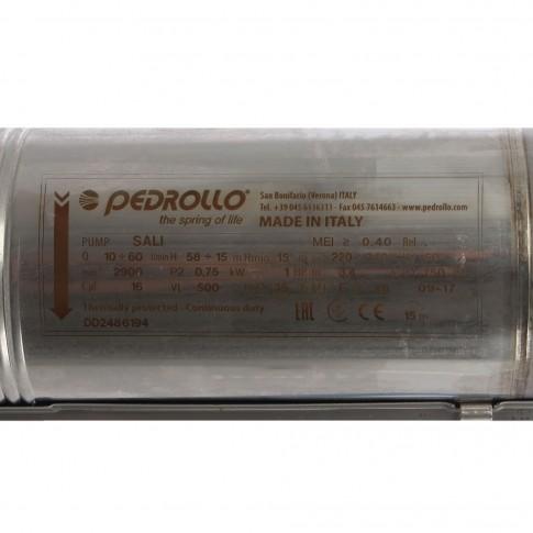 Pompa submersibila ape curate Pedrollo Sali, 3.6 mc/h, H max. 60 m, 2900 RPM, 750 W