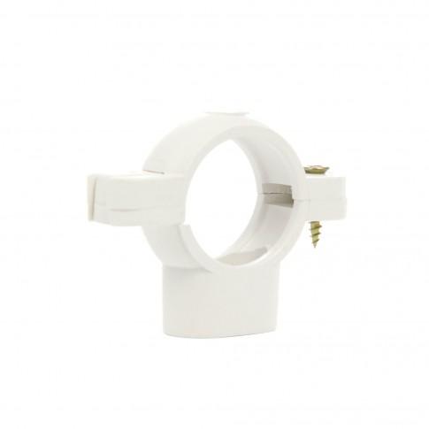 Colier PP fixare tevi, alb, D 32 mm