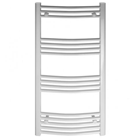 Calorifer baie Ferroli Talia, portprosop, curbat, alb, 600 x 960 mm  + accesorii montaj