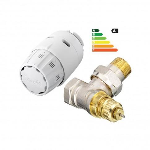 Robinet colt tur pentru calorifer, RA-FN + senzor termostatic, RAS-C2, Danfoss