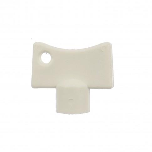 Cheie plastic Herz, pentru aerisire calorifer, alb