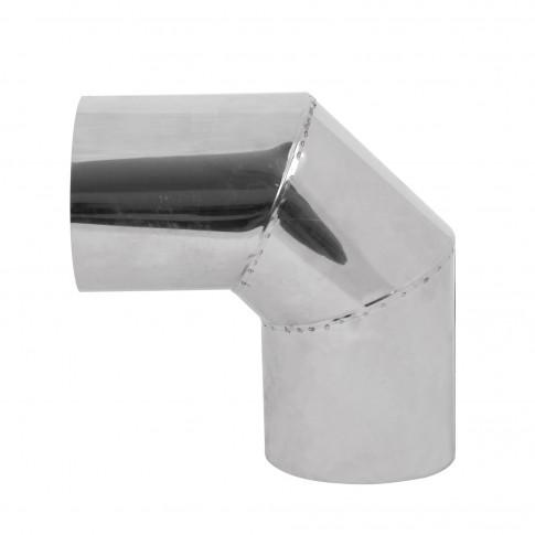 Cot inox 90 grade, D 115 mm