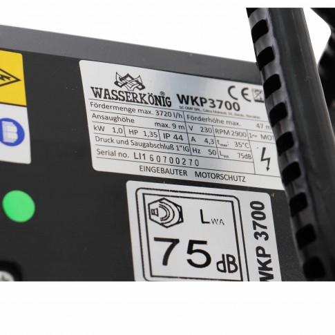 Pompa apa Wasserkonig WKP3700, 1 kW, corp fonta, Q max. 3.7 mc/h, H max. 47 m, 230 V