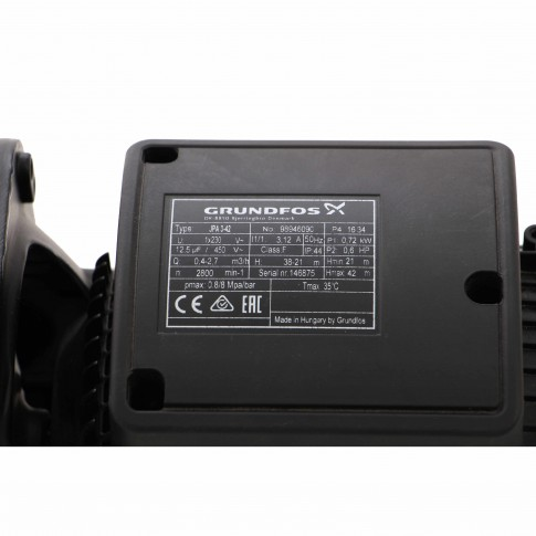 Pompa apa Grundfos JPA 3-42, 0.72 kW, corp fonta, Q max. 2.76 mc/h, H max. 42 m, 230 V