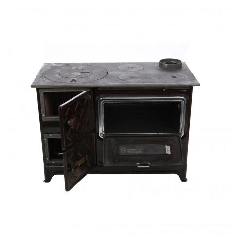 Soba email, pe lemne, Hosseven Eco II, cu plita si cuptor, 5 kW, 870 x 630 x 490 mm