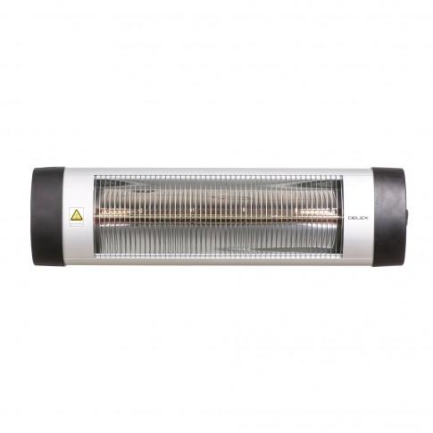 Incalzitor radiant halogen Delex IRH 2000, 2000 W, 780 x 210 x 70 mm, termostat manual