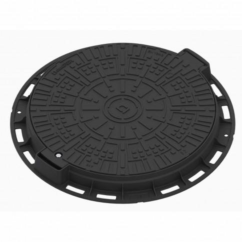 Capac negru rotund pentru gradina, A15, PP, D 800 mm