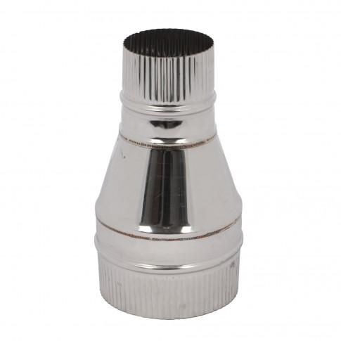 Reductie neizolata inox, D 130-80 mm