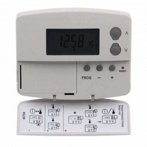 Termostat de ambient pentru centrala, cu fir, Danfoss TP5001, programabil 5+2 zile