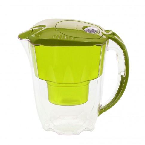 Cana filtrare apa potabila Aquaphor Jasper, capac verde, 2.8 l + cartus filtrant B25 Maxfor cu Mg